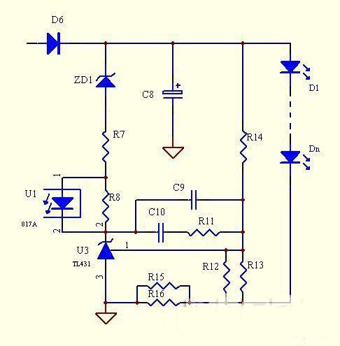 分析led电源次级恒流的经典电路
