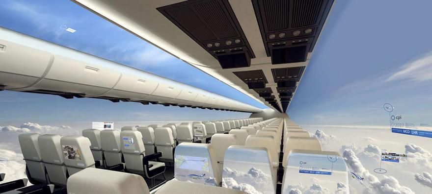 「無窗」的全透明飛機