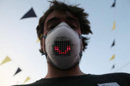 表情電子化 LED防霾個性DIY口罩