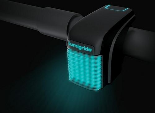 LED投射網格夜騎更安全