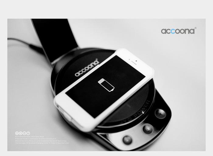 Acoonna LED檯燈支援無線充電