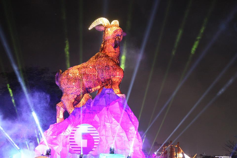 2015台灣燈會 台中公園區主燈「吉羊康泰」