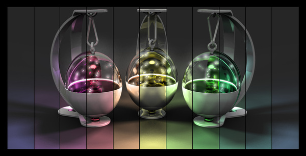 螢火蟲燈,仿效螢火蟲飛舞的情景
