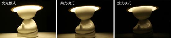 和尚造型遙控LED燈 敲木魚就能切換燈光