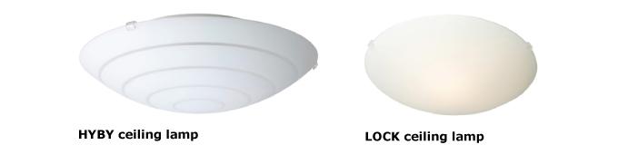 IKEA宜家家居緊急召回三款吸頂燈,其中HYBY和LOCK總計銷售達百萬盞。(