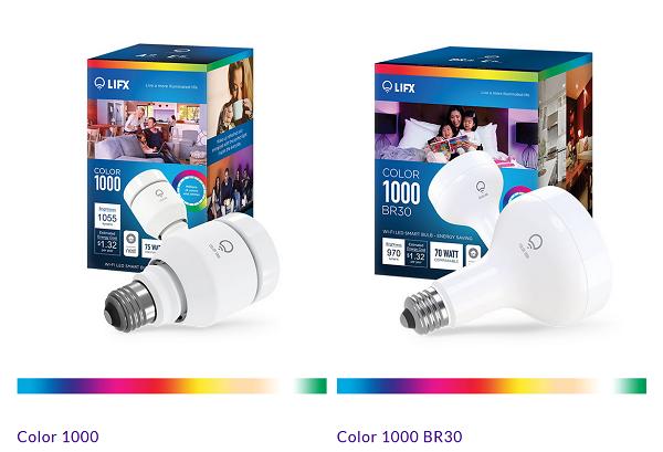 LIFX智慧燈泡共有兩款彩色燈泡及兩款白色燈泡