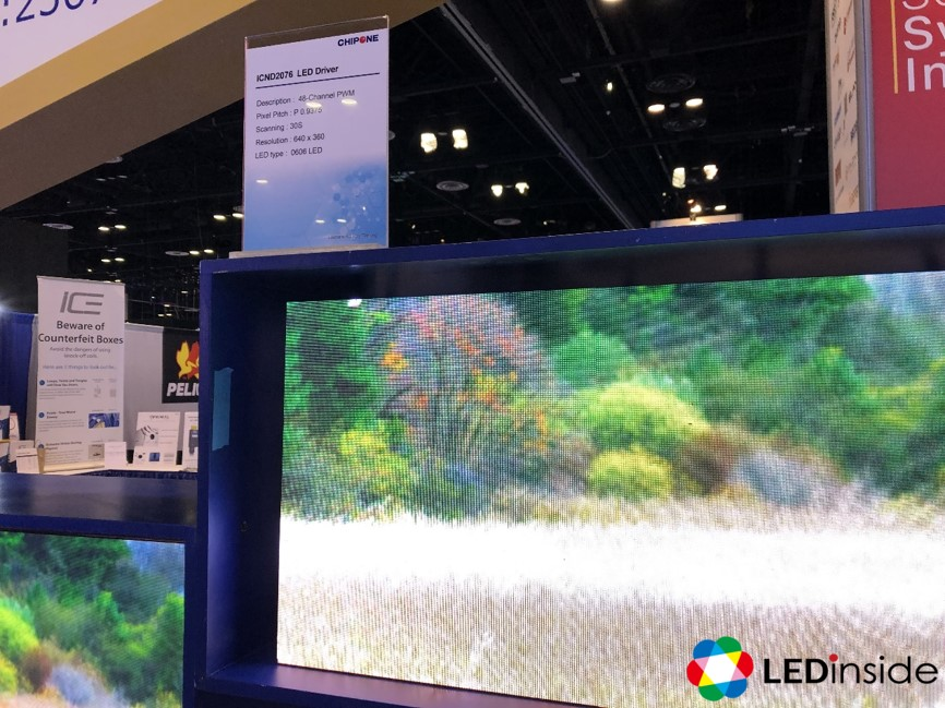 InfoComm 2019】Chipone Launched High Scan-line Common